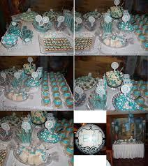 Tiffany Blue Baby Shower Cake - tiffany blue u0026 white candy bar dessert table i made for my