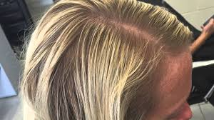 older women baylage highlights old foils to a new balayage root stretch or faded look or reverse