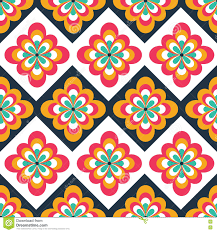 seamless folk pattern with floral decorations ethnic print can