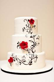 black and white wedding cakes painted black and white wedding cake black white 2493136