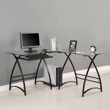 Black Glass Top Computer Desk Office Desk Black Glass Office Desk Modern Office Desk Small