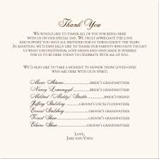 thank yous on wedding programs sle thank you wording for wedding programs thank you