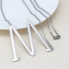 monogram jewlery minimalist name necklace choker chain alphabet personalized