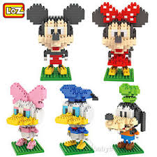 loz diamond blocks lot of 5 loz diamond block nano block mickey mouse minny donald
