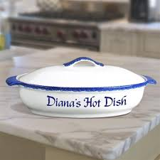 personalized serving dishes personalized casserole dish personalized gifts neat stuff
