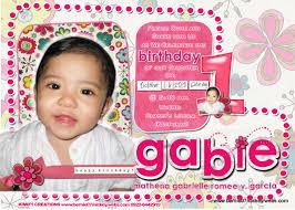 1st Birthday Invitation Card For Baby Boy F1 Digital Scrapaholic Gab U0027s 1st Birthday Invitation