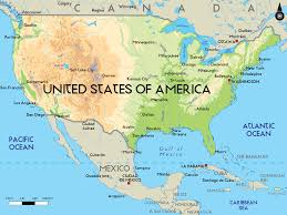 Mexico Maps Usa Canada Mexico Map