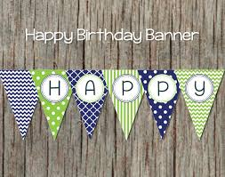 Happy Birthday Flags Printable Birthday Banner Diy Happy By Bumpandbeyonddesigns On Zibbet