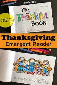 thanksgiving emergent reader my thankful book literacy