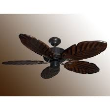 Ceiling Fan With Palm Leaf Blades by 42
