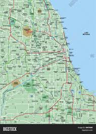 Map Chicago Chicago Area Map Map Chicago Area United States Of America