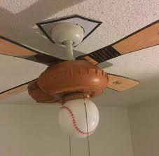 hunter baseball ceiling fan hunter 44 ceiling fan with baseball theme bat catchers mitt glove