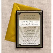 art deco 1920s wedding invites u0026 stationery