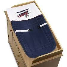 Vintage Aviator Crib Bedding Sweet Jojo Designs 9 White And Blue