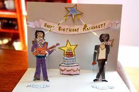 craft project pop up prince u0026 michael jackson birthday card