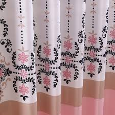 Paris Fabric Shower Curtain by Pink And Black Shower Curtain Charlotte Shower Curtain By Famous