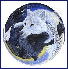 wolves yin yang print