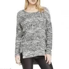 black fringe sweater express express marled fringe front black white sweater from