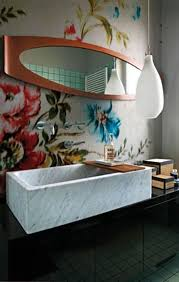 72 best wallpaper bathroom images on pinterest bathroom wall