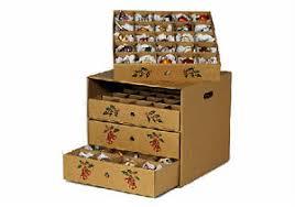 christmas ornament storage box 4 drawer christmas ornament storage box corrugated cardboard ebay