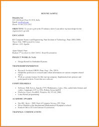 Objective For Software Testing Resume 10 Sample Resume For Fresher Software Engineer Azzurra Castle