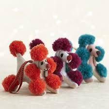 pompom poodle ornaments помпончики poodle and