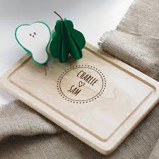 personalised cutting board personalised housewarming chopping board for board