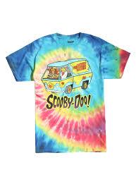 scooby doo gang tie dye t shirt topic
