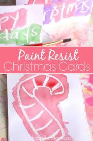 wax resist christmas cards for kids happy hooligans