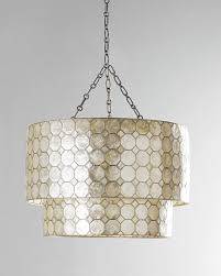 Capiz Light Pendant Smoked Capiz 2 Tier 3 Light Pendant