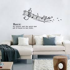Musical Note Decorations Creative Note Music Spectrum Home Decal Wall Sticker Removable