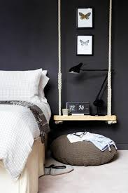 bedside table design and decorative items suitable for each