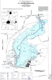Alum Creek Campground Map Cj Brown Reservoir Fishing Map Southwest Ohio Go Fish Ohio