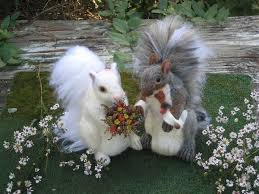 squirrel cake topper squirrel wedding cake toppers needle felted by gourmet felted