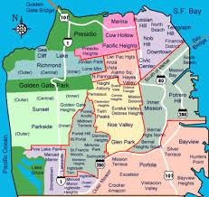 san francisco map downtown san francisco and beyond neighborhoods