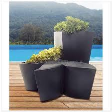 vasi in plastica da esterno vasi in plastica foglia pouf 83518775 polietilene fioriere da