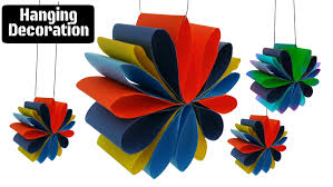 craft design 3 hanging paper decoration for diwali christmas