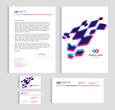 layout template size a4 cover page business card and letter blue