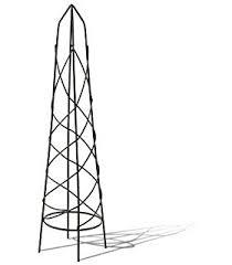 Climbing Plant Supports - 1 9m outdoor garden green metal obelisk climbing plant support