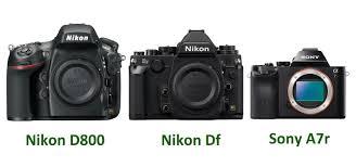 sony a7 black friday nikon df vs sony a7 a7r vs nikon d800 specs size comparison