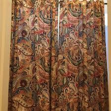 Paisley Curtains Pier One Other Pier One Vibrant Paisley Curtains Poshmark