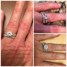 moissanite bridal reviews worth the wait my new forever one moissanite wedding set weddingbee