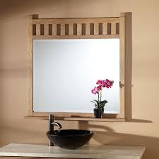 weathered oak vanity beveled bathroom vanity mirror bathroom decoration