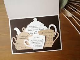 kitchen tea invitation ideas tea set wedding invitation tea wedding