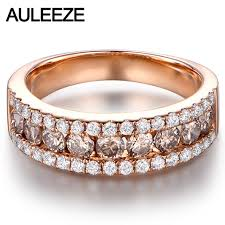 diamond wedding bands for women luxury real brown diamond wedding band solid 14k 585 gold