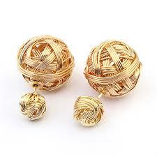 stylish gold earrings online cheap stylish statement earrings metal