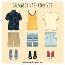 men set stylish summer fashion set for men vector free