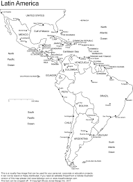 Central America And Caribbean Map by Latin America Printable Blank Map South America Brazil