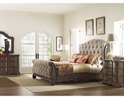 upholstered sleigh bed frame stribal com design interior home
