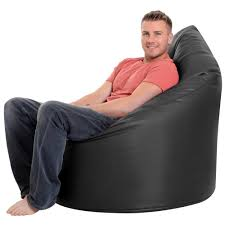 l bean bag for s black giant bean bag chair in faux leather by bean bag bazaar co uk kitchen home